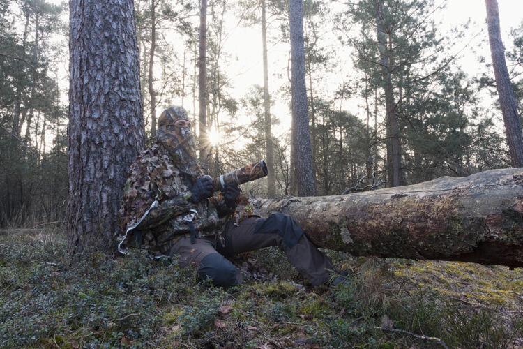 Camouflage wildlife photography